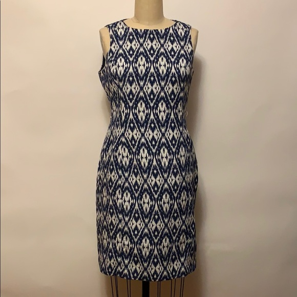 Anne Klein Dresses & Skirts - Anne Klein Blue & White Dress Sz 6